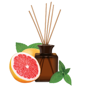 Moroccan Mint and Pink Grapefruit Reed Diffuser, 80ml